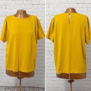 J. Crew Golden Brandy Puff Sleeve T-Shirt